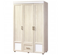 Шкаф «Йорк» 3-х дверный с 1 ящиком № 01.11 (ясень анкор)