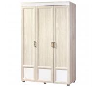 Шкаф «Йорк» 3-х дверный с глянцевыми вставками № 01.5 (ясень анкор)