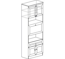 Шкаф барный «Инна» № 605, (денвер светлый)
