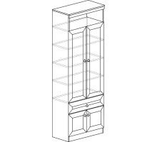Шкаф Инна для книг №611 (денвер светлый)