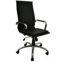 Кресло директорское  Барбара 1Х ,эко-кожа, цвет чёрный