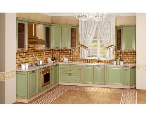 Кухня «Джульетта» (серебристо-зеленый)