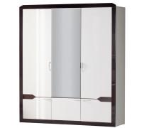 Шкаф для платья и белья Ронда № 310 (венге/белый)