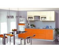 Кухня «Верона»,(ваниль глянец/оранжевый глянец) 1