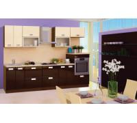 Кухня «Верона», (гауди глянец/венге стрипес глянец) 2