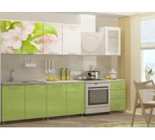 Кухня МДФ 2000 с фотопечатью Яблоневый цвет