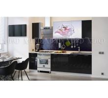 Кухня МДФ 2000 с фотопечатью Лилия