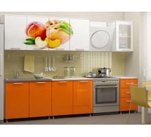 Кухня МДФ 2000 с фотопечатью Персик
