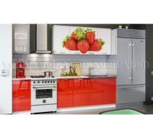 Кухня МДФ 2000 с фотопечатью Клубника
