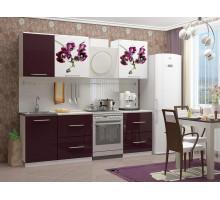 Кухня МДФ 1700 с фотопечатью Орхидея 1