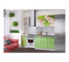 Кухня МДФ 1700 с фотопечатью Яблоневый цвет