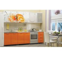 Кухня МДФ 2000 с фотопечатью Апельсин