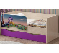 Детская кровать Юниор-12 МДФ Единорог, 80х160
