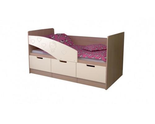 Детская кровать Бемби-7 МДФ, 80х160, ваниль / белфорт
