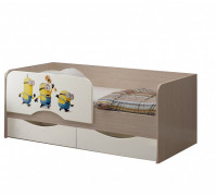 Детская кровать Юниор-12 МДФ Миньоны, 80х160