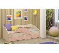 Детская кровать Дельфин-4 МДФ розовый, 80х160