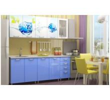 Кухня МДФ с фотопечатью Фреш со стеклостворкой 2,0 м