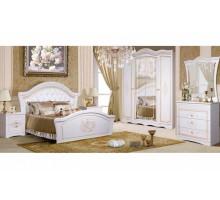 Модульная спальня Графиня, белый металлик+золото