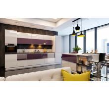Кухня Sola Пурпур на заказ ,арт.1074
