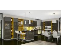Кухня «Оливия» Эстетти, артикул 854 по индивидуальным размерам